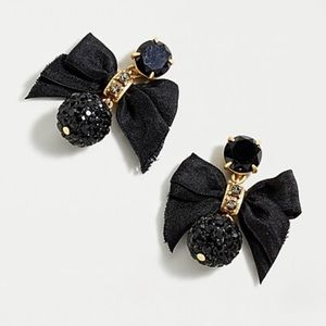 J.crew festive pave drop bow earring